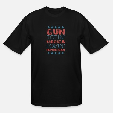 Brand Gun Totin Merica Lovin Republican Funny Republican - Men's Tall T-Shirt