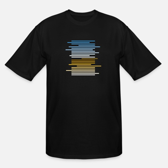Gradient T-Shirts - Gradient lines - Men's Tall T-Shirt black