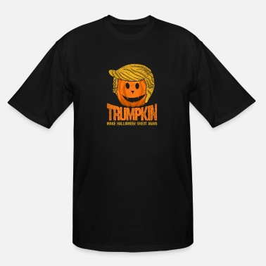 Present Halloween pumpkin Trump spooky scary gift idea - Men's Tall T-Shirt