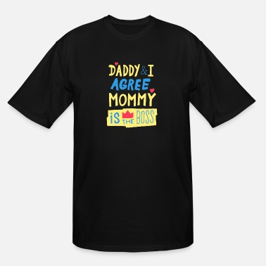 Teenager Mommy Is The Boss - Funny Quote Design - Men's Tall T-Shirt