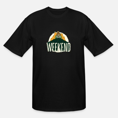 The Weekend Weekend camping shirt looking out for the weekend - Men's Tall T-Shirt