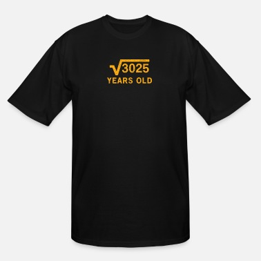 Root Square root of 3025 55 years old 55th Birthday - Men's Tall T-Shirt
