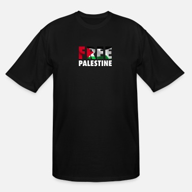 Conflict Free Palestine - The Palestinian Flag Graphic - Men's Tall T-Shirt