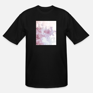 Teenager Gift Abstract Color Pattern Rose White - Men's Tall T-Shirt