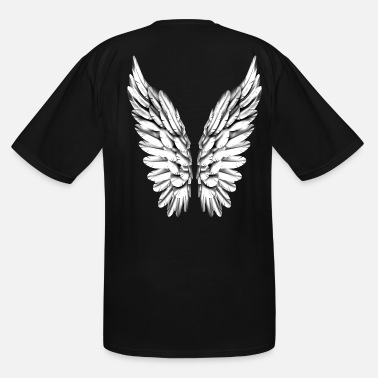 Wing White Silver Angel Wings Angelwings Heaven - Men's Tall T-Shirt