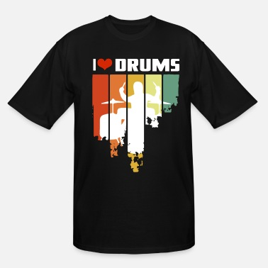 Tambores I Love Drums Vintage Edition - Men's Tall T-Shirt