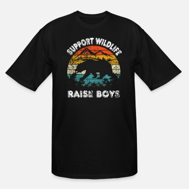 Vintage SUPPORT WILDLIFE RAISE BOYS - Men's Tall T-Shirt