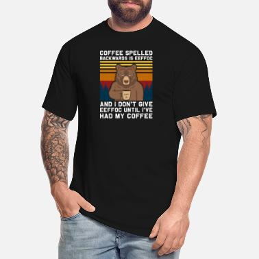 Backwards Coffee Spelled Backwards Is Eeffoc Cats Drink Coff - Men's Tall T-Shirt