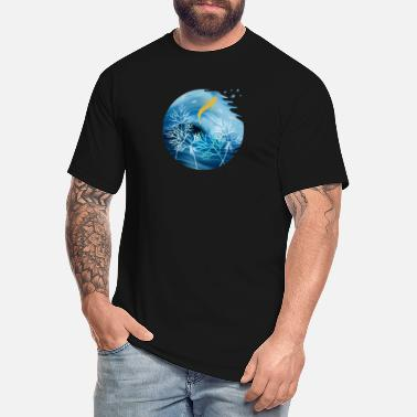 Animal Planet Sea Planet With Fish - Men's Tall T-Shirt