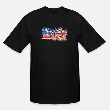 Usa God Bless The Usa - Men's Tall T-Shirt