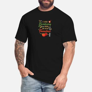 Love I Love Gardening From My Head Tomatoes TShirt - Men's Tall T-Shirt