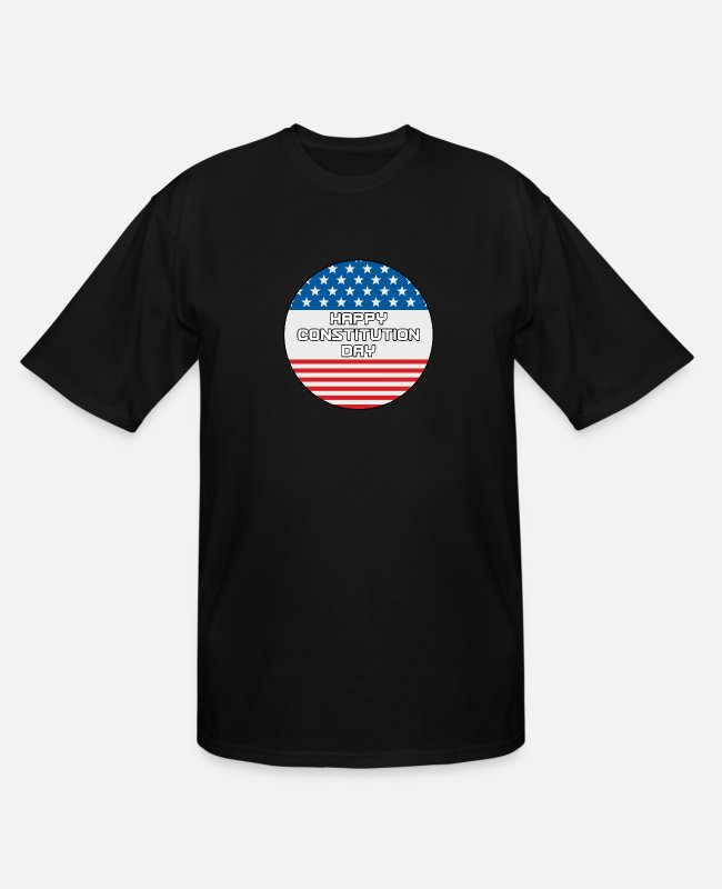 American T-Shirts - Citizenship Day Happy Constitution Day Naturalizat - Men's Tall T-Shirt black