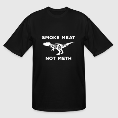 Smoke meat not meth - T-Rex edition in white - Men's Tall T-Shirt