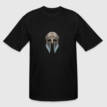 Gladiator helmet low polygon effect - Men's Tall T-Shirt