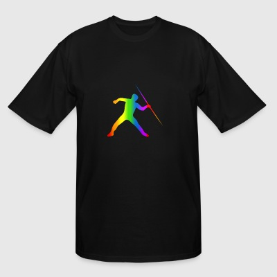Colorful Javelin Throw Rainbow - Men's Tall T-Shirt