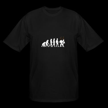 Accordion Squeezebox Musical Instrument Evolution - Men's Tall T-Shirt