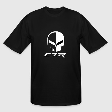 CORVETTE C7R SKULL - Men's Tall T-Shirt