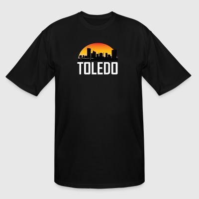 Sunset Skyline Silhouette of Toledo OH - Men's Tall T-Shirt