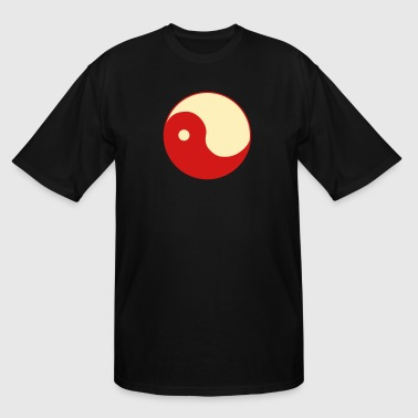 ying and yang uneven - Men's Tall T-Shirt