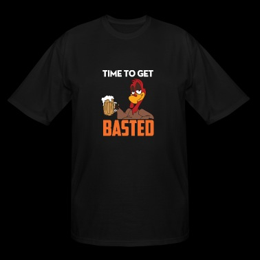 Time To Get Basted shirt -Funny Thanksgiving shirt - Men's Tall T-Shirt