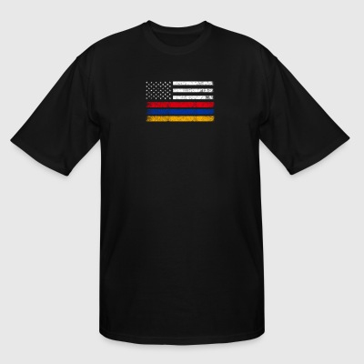 Armenian American Flag - USA Armenia Shirt - Men's Tall T-Shirt