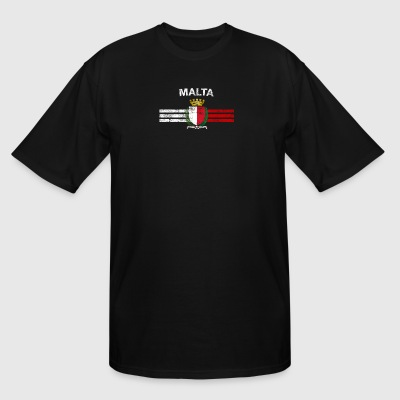 Maltese Flag Shirt - Maltese Emblem & Malta Flag S - Men's Tall T-Shirt