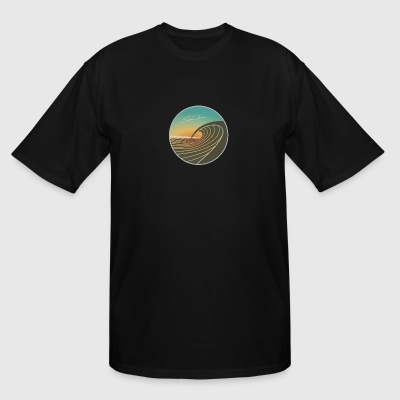 SunsetPeak_CircleEmblem_SMALLER - Men's Tall T-Shirt