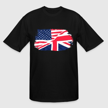 USA - Union Jack Flag - Vintage Look - Men's Tall T-Shirt