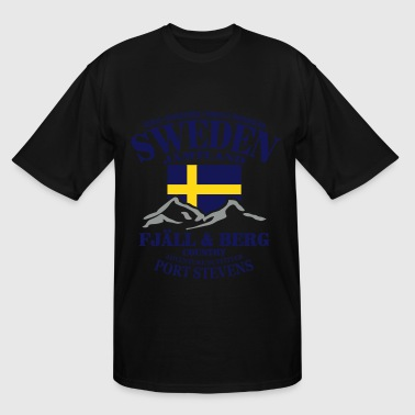 Fjäll & Berg - Sweden Flag - Men's Tall T-Shirt