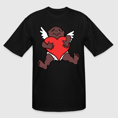African Cupid Valentine's Art - Men's Tall T-Shirt