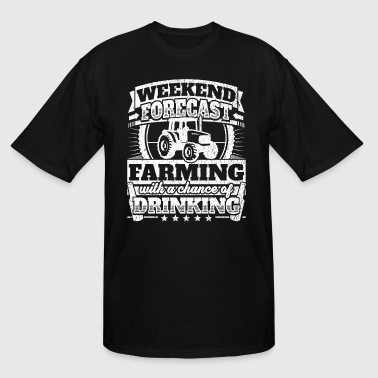 Weekend Forecast Farming Drinking Tee - Men's Tall T-Shirt