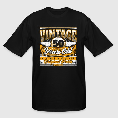 Funny 50th Birthday Shirt: Vintage 50 Years Old - Men's Tall T-Shirt