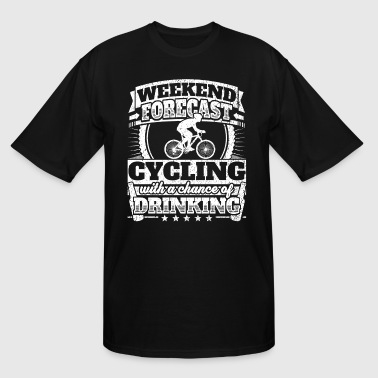 Weekend Forecast Cycling Drinking Tee - Men's Tall T-Shirt