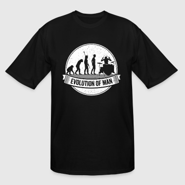 Funny Drumming Graphic Drummer Evolution Drums Tee - Men's Tall T-Shirt