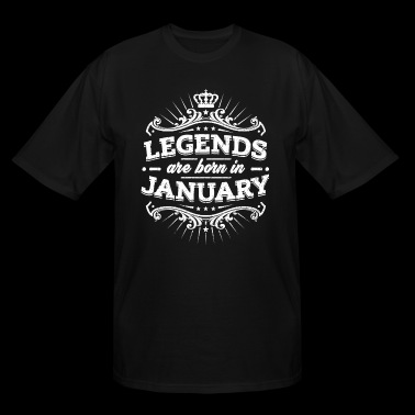 Legends Are Born In January Birthday Shirt - Men's Tall T-Shirt