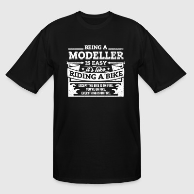 Modeller Shirt: Being A Modeller Is Easy - Men's Tall T-Shirt