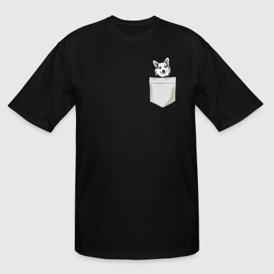Just Go Everywhere With My Corgi In Pocket - Men's Tall T-Shirt