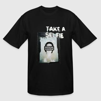 BORDERLESS TAKE A SELFIE FAKE A LIFE OA WITH WOMAN - Men's Tall T-Shirt