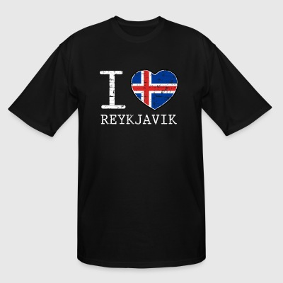I love Reykjavik Iceland flag tshirt - Men's Tall T-Shirt