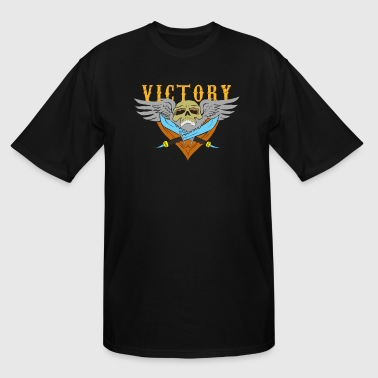 VICTORY Flying Skull - Men's Tall T-Shirt