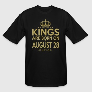 Kings are born on August 28 - Men's Tall T-Shirt