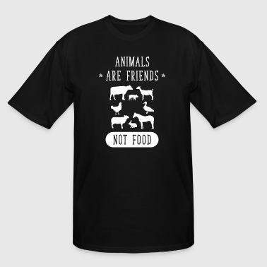 Animals are friends not food - Men's Tall T-Shirt
