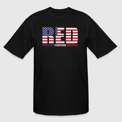 Red Remember Everyone Deployed - Men's Tall T-Shirt