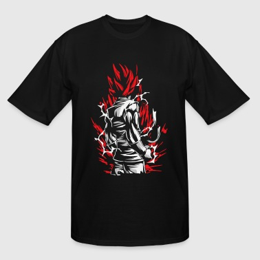 Goku Silluette - Dragon Ball - Men's Tall T-Shirt