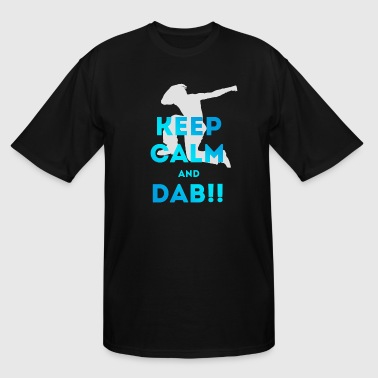 dab keep calm dabbing football touchdown dance lol - Men's Tall T-Shirt