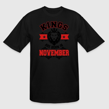 kings are born in lion november - Men's Tall T-Shirt
