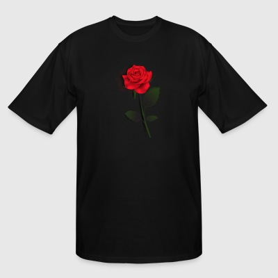 Rose Stem (Black) - Men's Tall T-Shirt