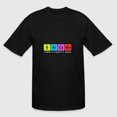 Sarcasm Periodic Elements Of Humor - Men's Tall T-Shirt