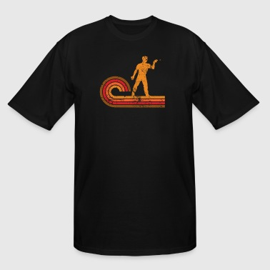 Retro Style Darts Player Silhouette Darts - Men's Tall T-Shirt