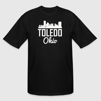 Toledo Ohio Skyline - Men's Tall T-Shirt